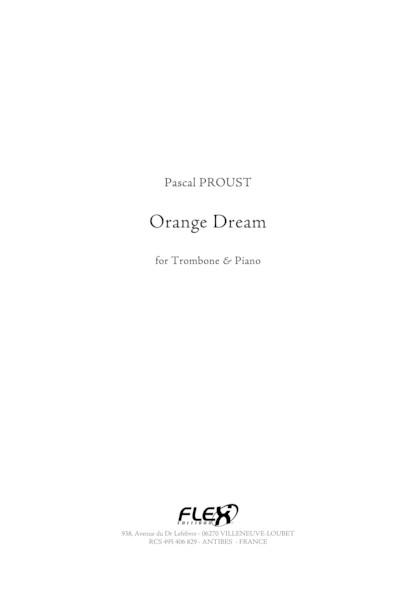 Orange Dream - P. PROUST - Trombone et Piano