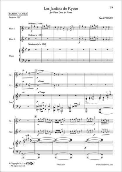 Les Jardins de Kyoto - P. PROUST - Duo de Flûtes et Piano