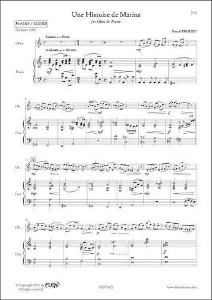 Une Histoire de Marins - P. PROUST - Hautbois & Piano