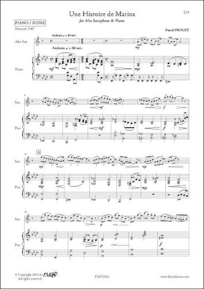Une Histoire de Marins - P. PROUST - Saxophone Alto & Piano