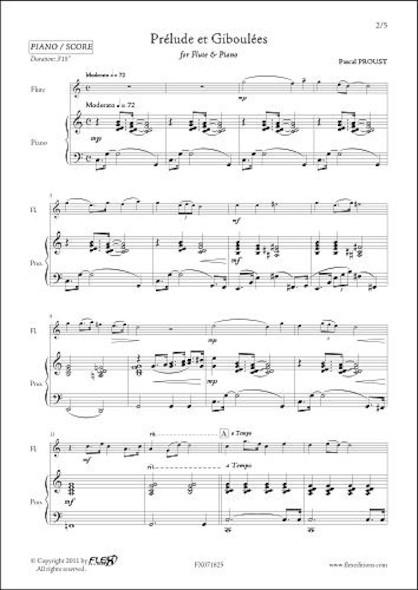 Prélude et Giboulées - P. PROUST - Flûte & Piano