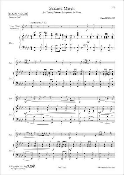 Saxland March - P. PROUST - Saxophone Ténor/Soprano & Piano