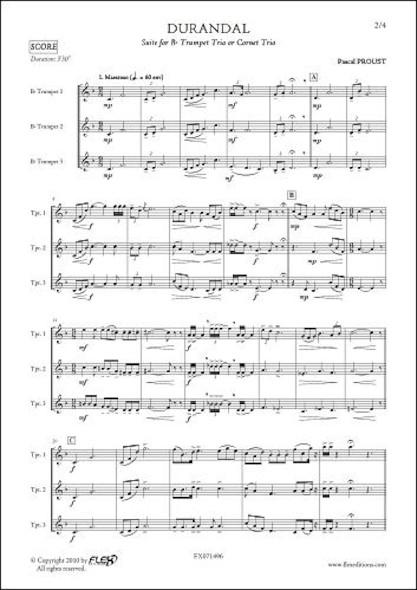 Durandal - P. PROUST - Trio de Trompettes
