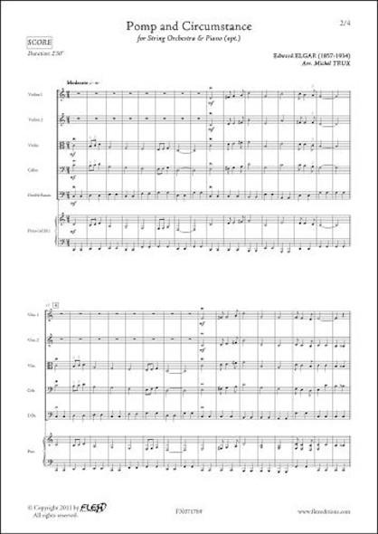 Pomp and Circumstance - E. ELGAR - Orchestre à Cordes et Piano (opt.)