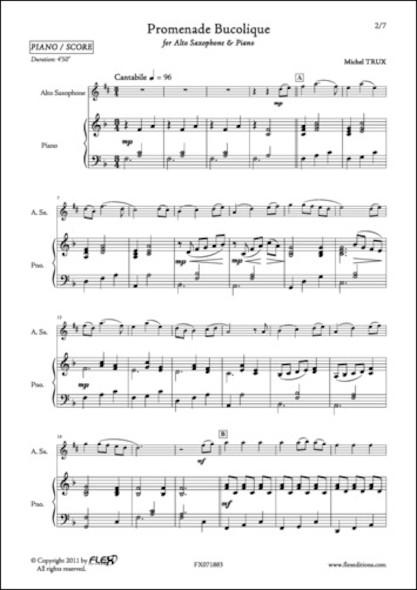 Promenade Bucolique - M. TRUX - Saxophone Alto et Piano