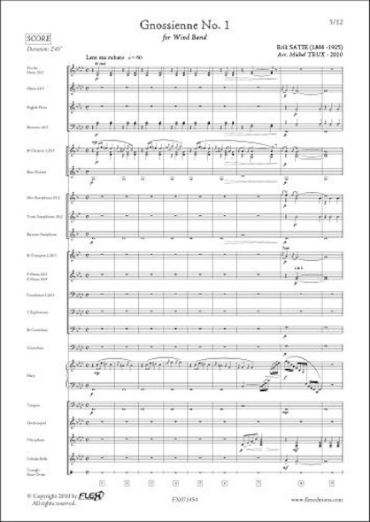 Gnossienne No. 1 - E. SATIE - Orchestre d'Harmonie