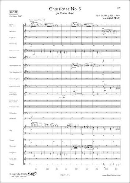 Gnossienne No. 3 - E. SATIE - Orchestre d'Harmonie