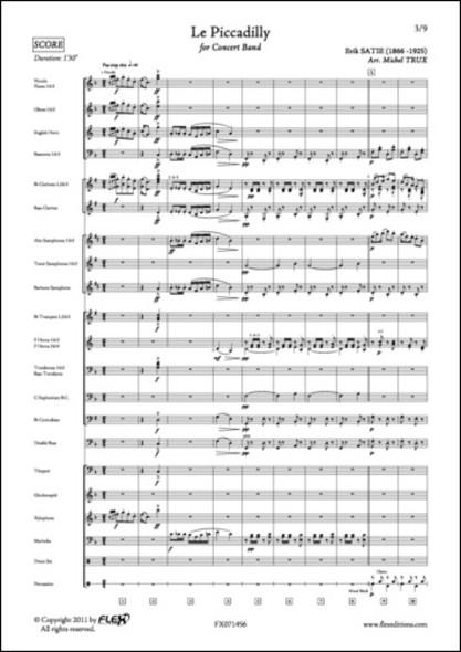 Le Piccadilly - E. SATIE - Orchestre d'Harmonie
