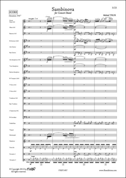 Sambinova - M. TRUX - Orchestre d'Harmonie