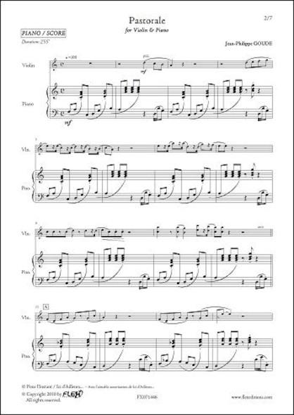 Pastorale - J.-P. GOUDE -  Violon et Piano