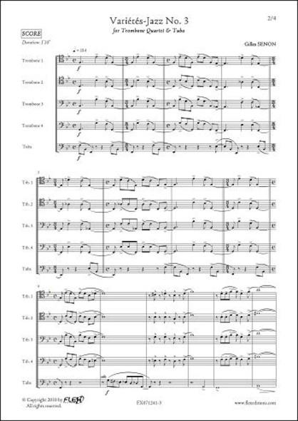 Variétés Jazz No. 3 - G. SENON - Quatuor de Trombones & Tuba