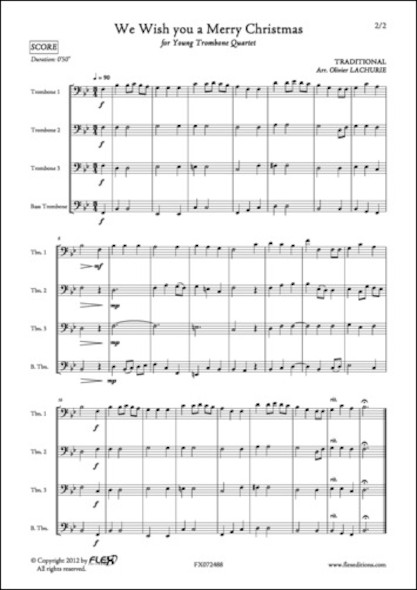 We Wish you a Merry Christmas - Traditionnel - Quatuor de Trombones
