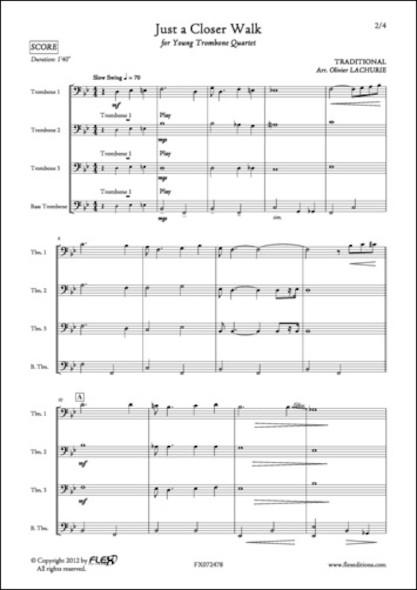 Just a Closer Walk - Traditionnel - Quatuor de Trombones