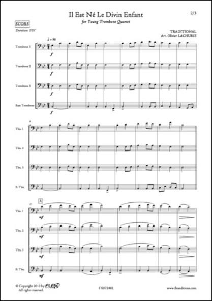 Il est Né Le Divin Enfant - Traditionnel - Quatuor de Trombones