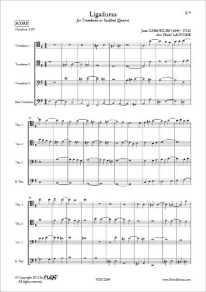 Ligaduras - J. CABANILLES - Quatuor de Trombones