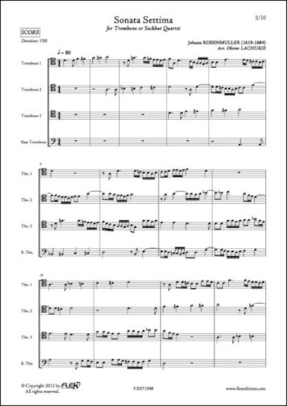 Sonata Settima - J. ROSENMULLER - Quatuor de Trombones