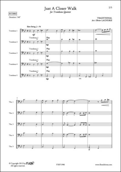 Just A Closer Walk - Traditionnel - Quintette de Trombones