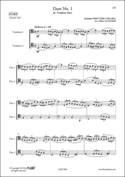 Duet No. 1 - R. KREUTZER - Duo de Trombones
