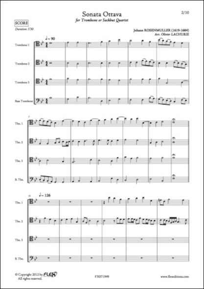 Sonata Ottava - J. ROSENMULLER - Quatuor de Trombones