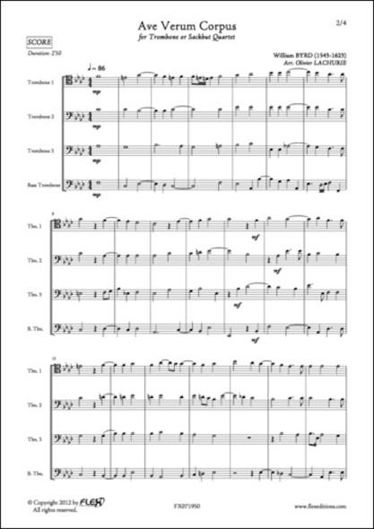 Ave Verum Corpus - W. BYRD - Quatuor de Trombones