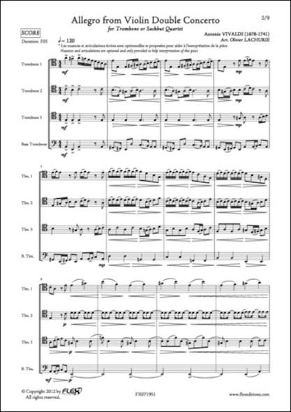 Allegro du Double Concerto pour Violon - A. VIVALDI - Quatuor de Trombones