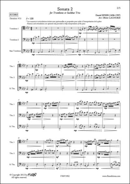 Sonata 2 - D. SPEER - Trio de Trombones