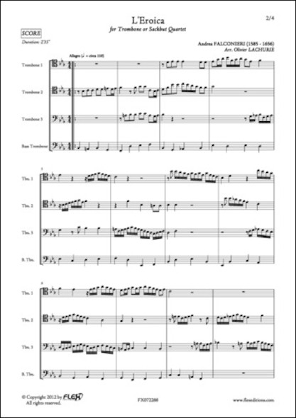 L'Eroica - A. FALCONIERI - Quatuor de Trombones