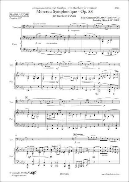 Morceau Symphonique Opus 88 -  F.A. GUILMANT - Trombone & Piano