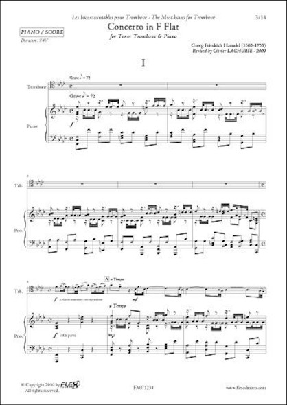 Concerto en Fa mineur -  G.F. HAENDEL - Trombone & Piano
