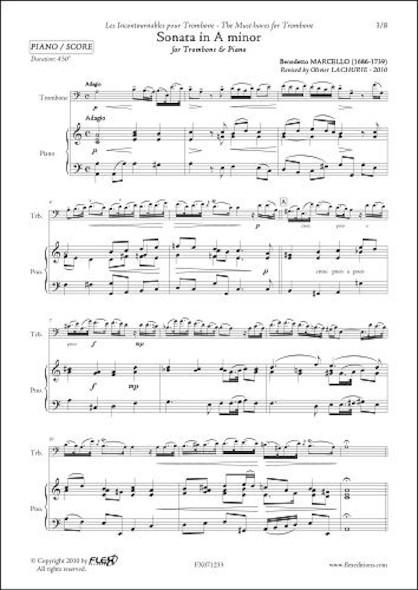 Sonate en La mineur -  B. MARCELLO - Trombone & Piano