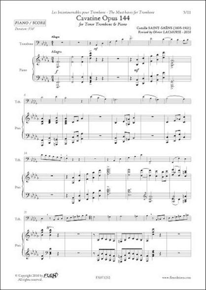 Cavatine Opus 144 -  C. Saint-Saëns - Trombone & Piano