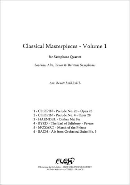Les Chefs d'Oeuvre Classiques, Volume 1 - B. BARRAIL - Quatuor de Saxophones
