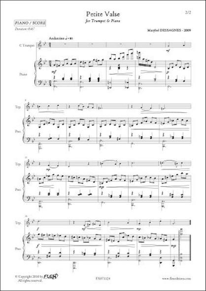 Petite Valse - M. DESSAGNES - Trompette & Piano