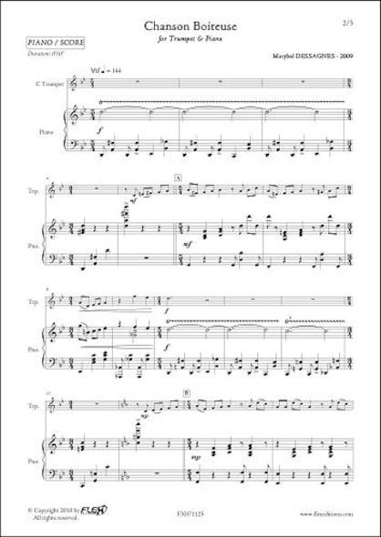 Chanson Boiteuse - M. DESSAGNES - Trompette & Piano
