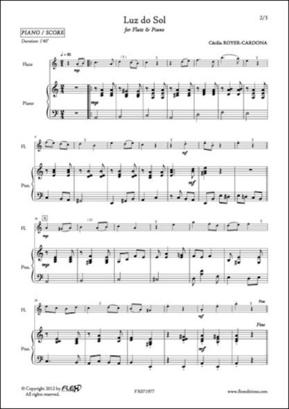 Luz do Sol - Cécilia ROYER-CARDONA - Flûte et Piano