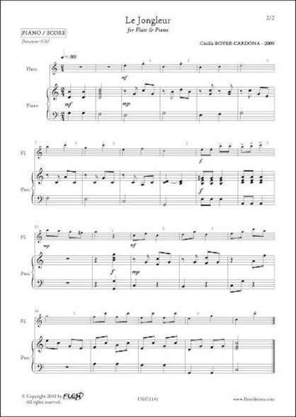 Le Jongleur - C. ROYER-CARDONA - Flûte et Piano