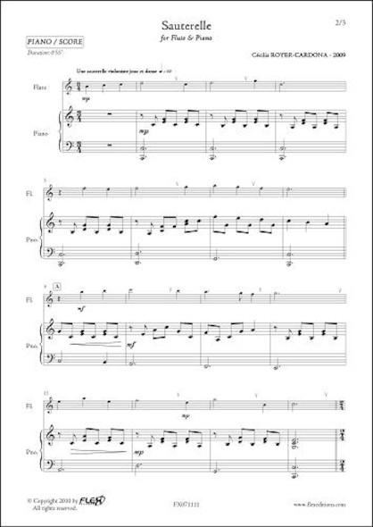 Sauterelle - C. ROYER-CARDONA - Flûte et Piano