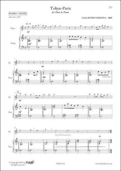 Tokyo-Paris - C. ROYER-CARDONA - Flûte et Piano