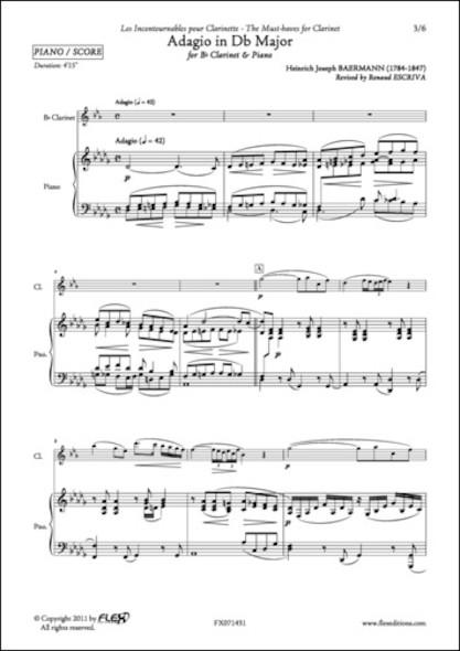 Adagio en Réb Majeur - H. J. BAERMANN - Clarinette et Piano