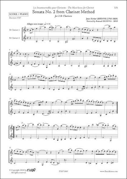 Sonate No. 2 de la Méthode pour Clarinette - J.-X. LEFEVRE - Duo de Clarinettes
