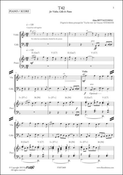 T42 - A. BETTACCHIOLI - Violon, Violoncelle et Piano