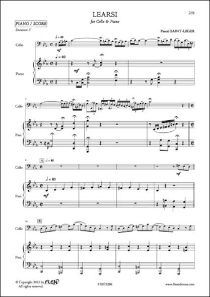 Learsi - P. SAINT-LEGER - Violoncelle et Piano