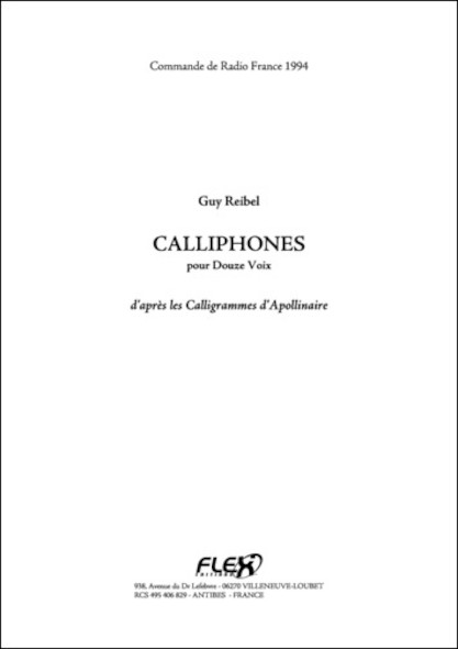 Calliphones - G. REIBEL - 12 Chanteurs Solistes