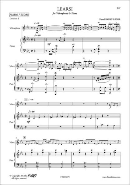 Learsi - P. SAINT-LEGER - Vibraphone et Piano
