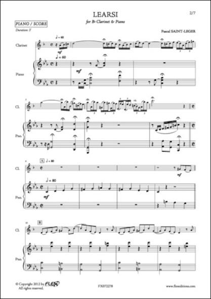 Learsi - P. SAINT-LEGER - Clarinette et Piano