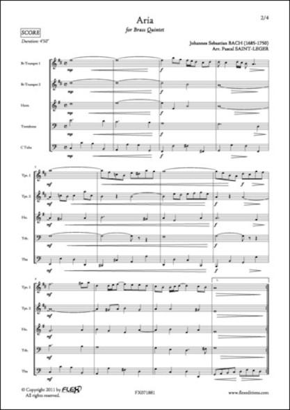 Aria - J. S. BACH - Quintette de Cuivres