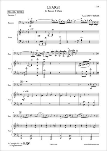 Learsi - P. SAINT-LEGER - Basson et Piano