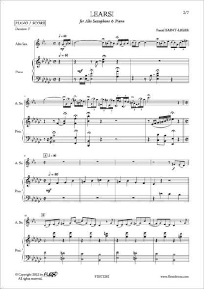 Learsi - P. SAINT-LEGER - Saxophone Alto et Piano