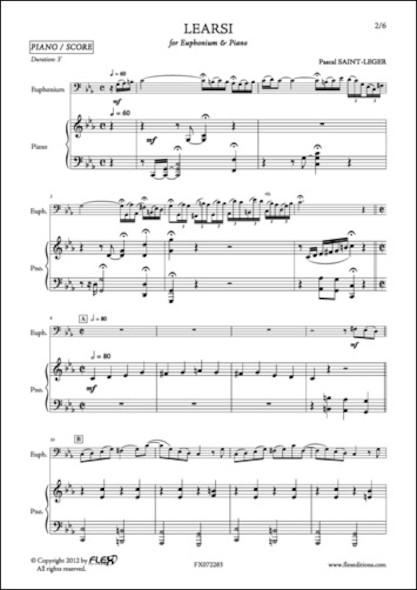 Learsi - P. SAINT-LEGER - Euphonium et Piano