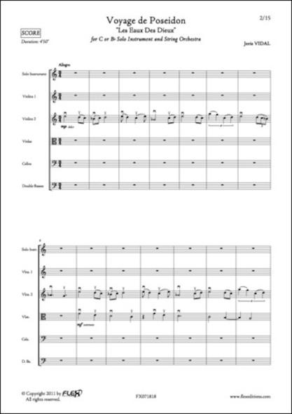 Voyage de Poseïdon - J. VIDAL - Orchestre à Cordes & Instrument Solo